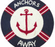 Julianne's Set Sail – ANCHORS AWAY HOOKED RUG